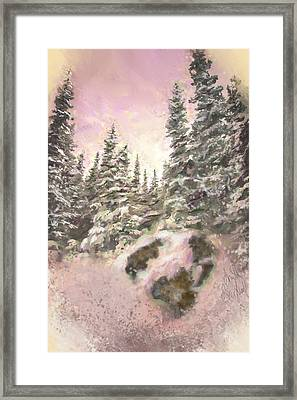 Framed Print featuring the painting Standing Tall by Annette Berglund