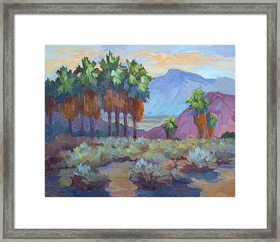 Standing Tall At Thousand Palms Framed Print