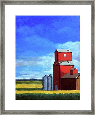 Framed Print featuring the painting Standing Tall by Linda Apple