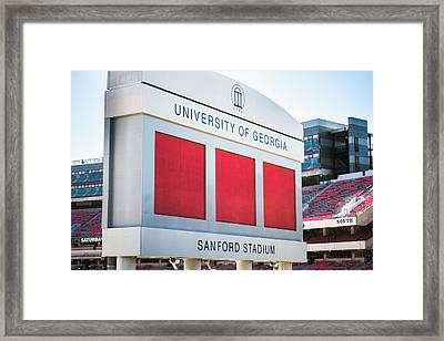 Standing Tall Over Sanford Stadium  Framed Print by Parker Cunningham