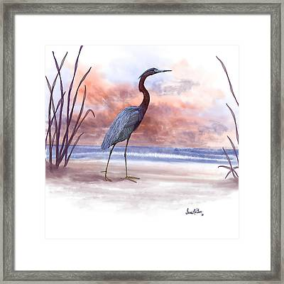 Framed Print featuring the painting Standing Tall by Sena Wilson
