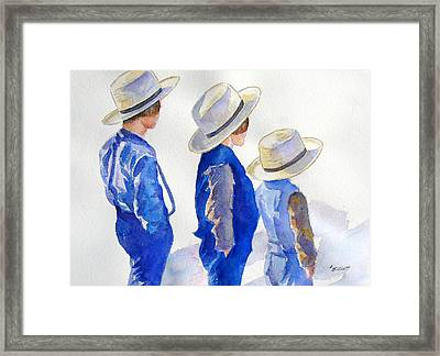 Standing Watch Framed Print by Marsha Elliott