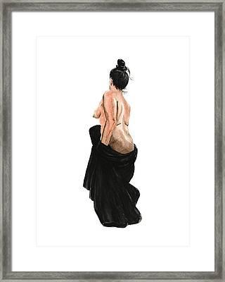 Standing Woman Framed Print by Masha Batkova