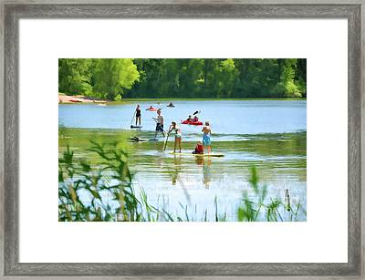Standup Paddleboarding 1 Framed Print by Lanjee Chee