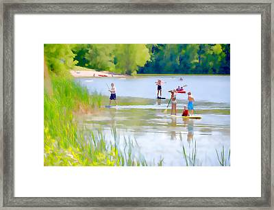 Standup Paddleboarding 2 Framed Print by Lanjee Chee