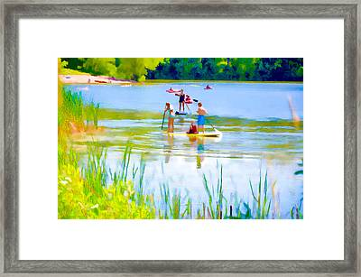 Standup Paddleboarding 3 Framed Print by Lanjee Chee