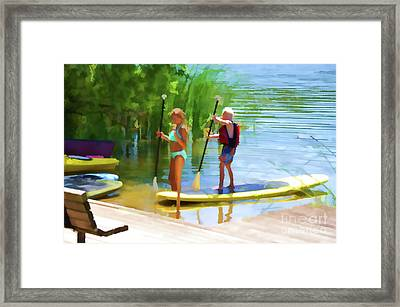 Standup Paddleboarding 4 Framed Print by Lanjee Chee