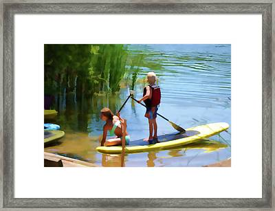 Standup Paddleboarding 5 Framed Print by Lanjee Chee