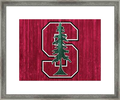 Stanford Barn Door Framed Print by Dan Sproul