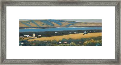 Framed Print featuring the painting Stanford By The Bay by Gary Coleman