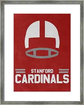 Stanford Cardinals Vintage Football Art Framed Print
