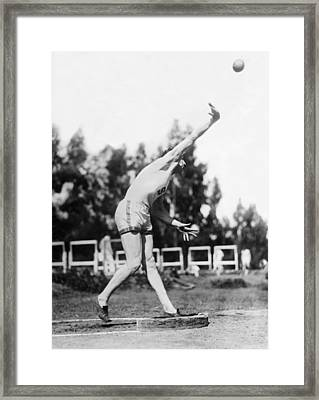 Stanford Field Star Hartranft Framed Print by Underwood Archives
