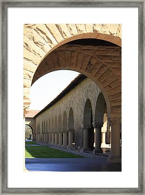 Stanford Memorial Court Arches I Framed Print by Linda Dunn