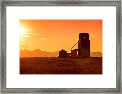 Stanford Sunset Framed Print
