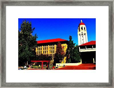 Stanford University - Stanford Ca Framed Print by Fareeha Khawaja