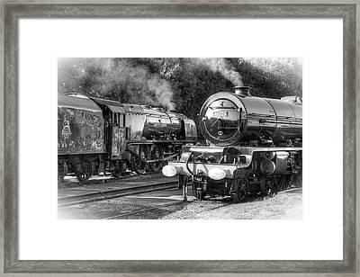 Stanier Pacifics At Swanwick Framed Print by David Birchall