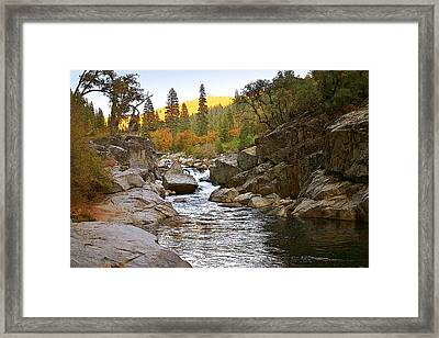 Framed Print featuring the painting Stanislaus Fall Sunset Looking East by Larry Darnell