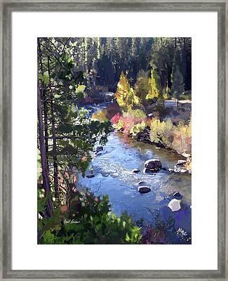 Stanislaus River In Fall Framed Print