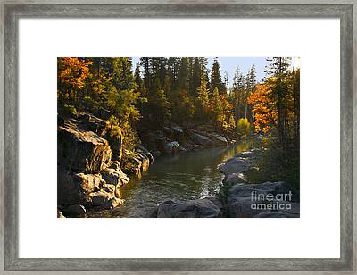 Framed Print featuring the painting Stanislaus Sunset Larry Darnell by Larry Darnell
