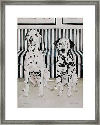 Stanley And Stelle Framed Print by Eileen Hale