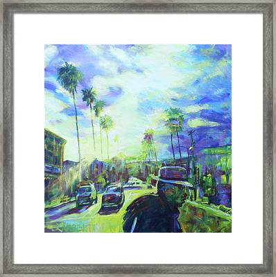 Stanley And Sunset Framed Print