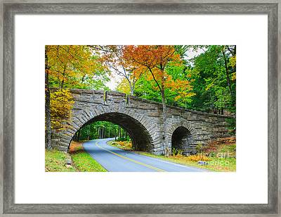 Stanley Brook Bridge In Acadia N.p Framed Print by Henk Meijer Photography