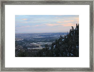 Stanley Canyon View Framed Print