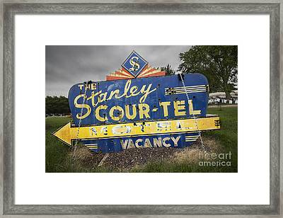 Stanley Cour-tel Sign Framed Print by Twenty Two North Photography