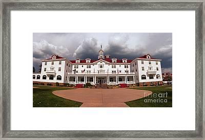 Stanley Hotel - Estes Park Colorado Framed Print by Donna Greene