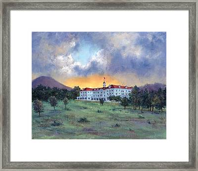 Stanley Hotel Sunset Framed Print