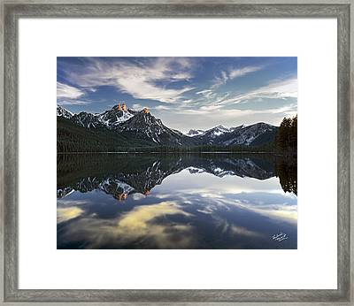 Stanley Lake Framed Print by Leland D Howard