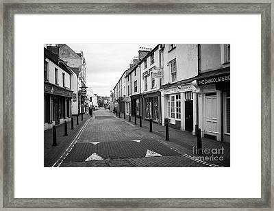 stanley street Holyhead town centre Anglesey Wales UK Framed Print by Joe Fox