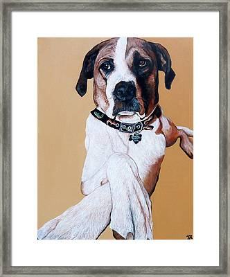 Framed Print featuring the painting Stanley by Tom Roderick