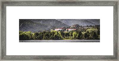 Stanley With Fisher Girl Pano Framed Print