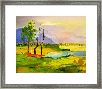 Stanthorpe Wine In My Glass Framed Print