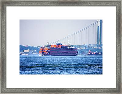 Stanton Island Ferry Framed Print by William Rogers