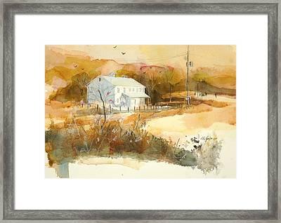 Stanton's Mill In Fall Framed Print