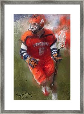 Stanwick Lacrosse 3 Framed Print by Scott Melby
