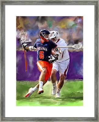 Stanwick Lacrosse Framed Print by Scott Melby