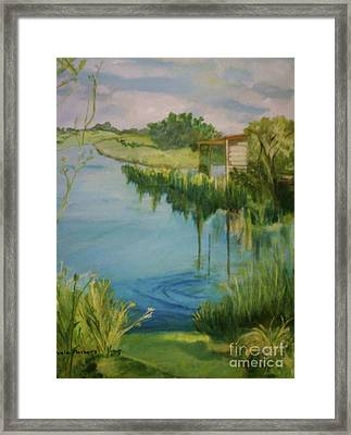 Stanwick Lakes Framed Print