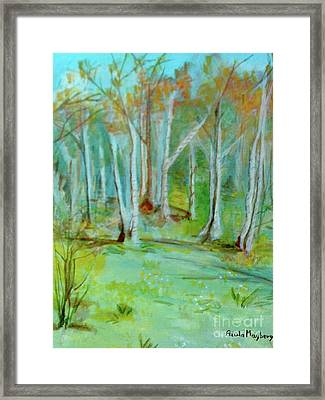 Stanwick Lakes Trees Framed Print