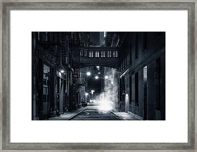 Staple Street Skybridge By Night Framed Print