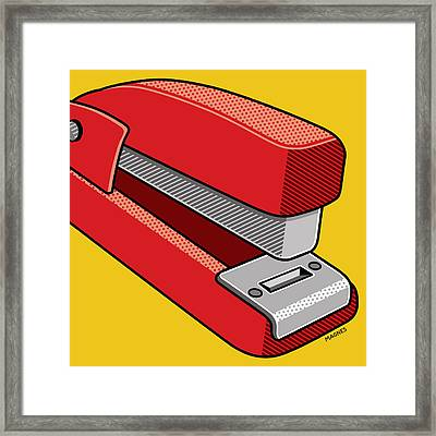 Framed Print featuring the digital art Stapler by Ron Magnes