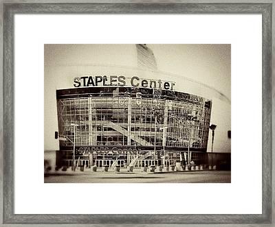 Staples Center Framed Print by Ariane Moshayedi