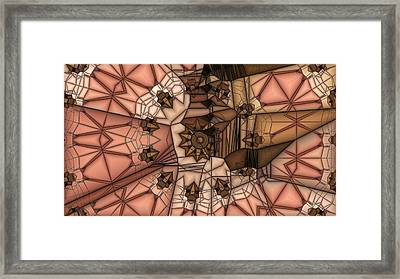 Stapped Together Framed Print by Ron Bissett