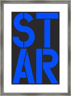 Star-2 Framed Print