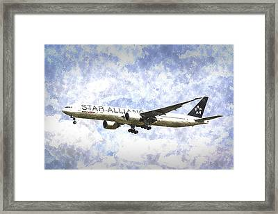 Star Alliance Boeing 777 Art Framed Print by David Pyatt