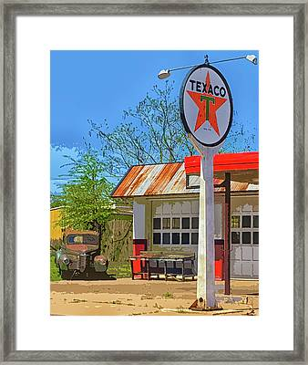 Star And Car Framed Print