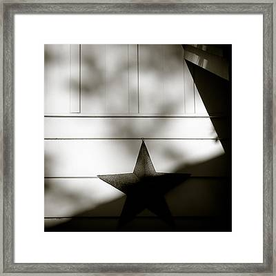 Star And Stripes Framed Print by Dave Bowman