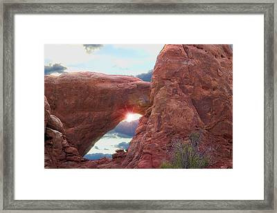 Framed Print featuring the digital art Star Arch by Gary Baird